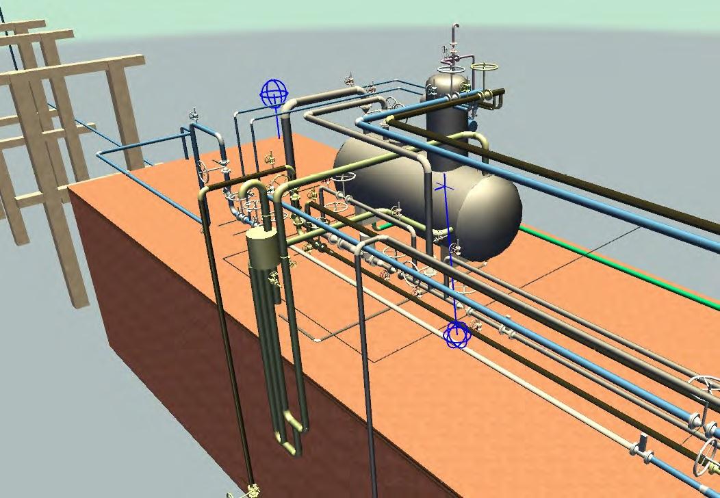 3D модель цеха пароснабжения